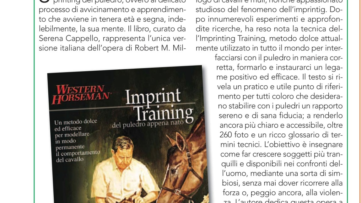 "Imprint Training: recensione de ""I nostri amici cavalli"""