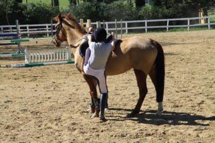 Tenere il cavallo fermo quando si monta