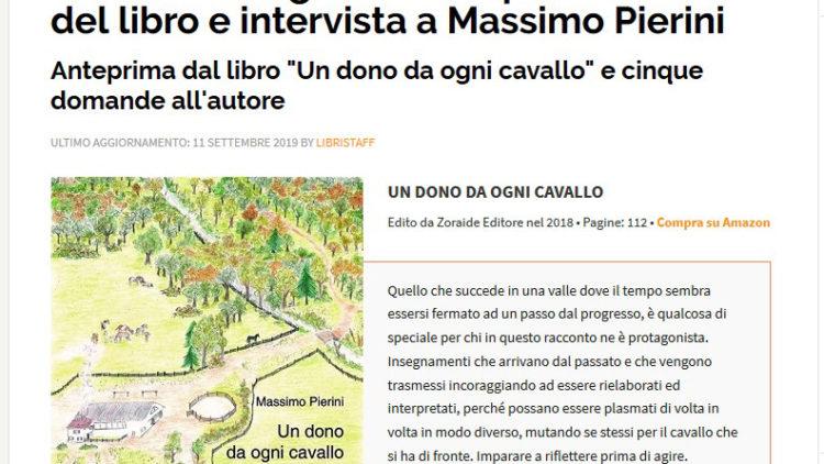 Massimo Pierini, intervista su librinews.it